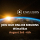 Banner JOIN OUR ONLINE SESSIONS AUGUST 3rd - 6th_V3